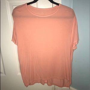 orange/light pink dressy top